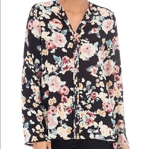 Floral Cristy pleat back blouse B Collection